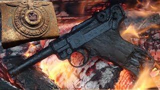 Нашли Винтовки, автоматы, пистолет и немецкие награды, Болото сохранило! Weapons found in swamp!