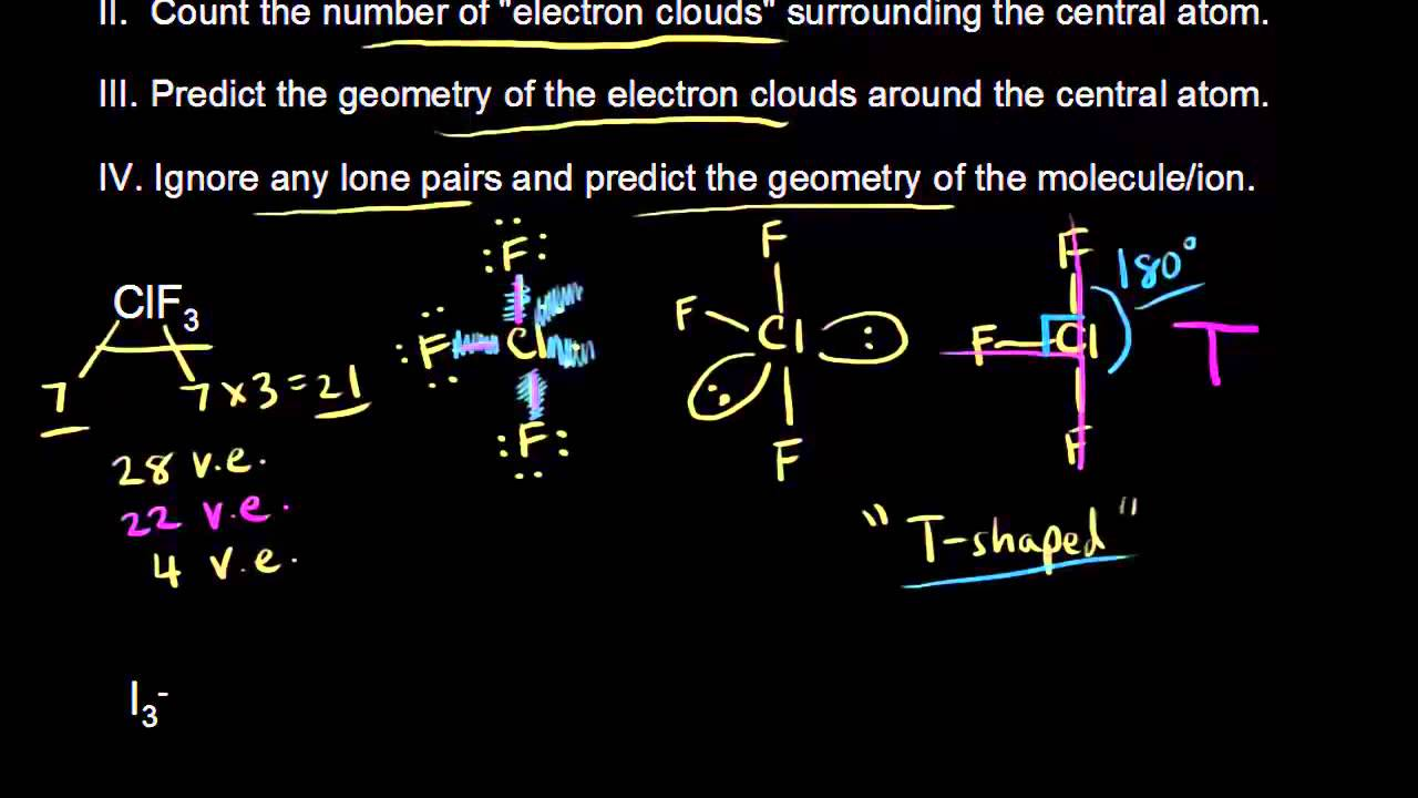 VSEPR for 5 electron clouds (continued) | Chemical bonds ... Xeo3 Lewis Structure Molecular Geometry