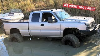 1,200HP DURAMAX EXTREME OFF ROAD BOAT TOWING!!! We Broke EVERYTHING...