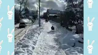 #дети Зимние покатушки!Деревенские развлечения!