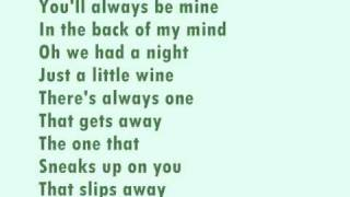 Pink - the one that got away (lyrics)