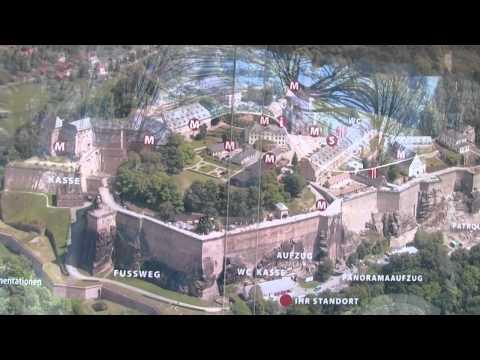 Germany's Bastai Rock Formation & Königstein Fortress