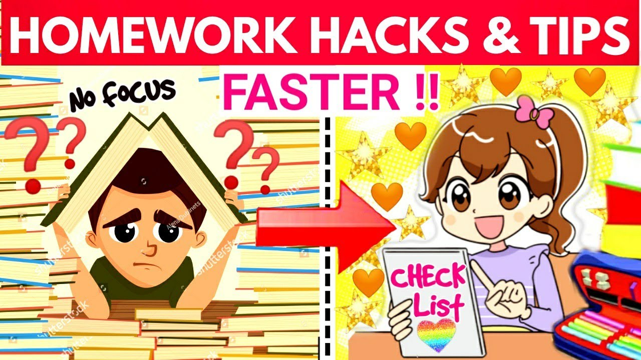 HOW TO DO HOMEWORK FAST :5 Expert Tips and Hacks/Easy Ways to Finish Your Homework Faster/STUDY TIPS