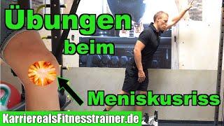 Meniskusriss! Wissen und Übungen für´s Fitnessstudio