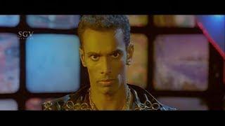 Josh Movie Best Scenes - Robo got electric shock on stage    Rakesh   Poorna   Kannada Movies Scenes