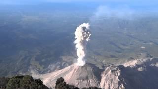 Eruption of Santiagito Volcano