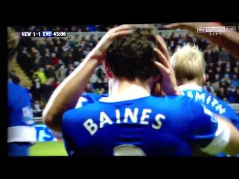 Baines free kick vs Newcastle