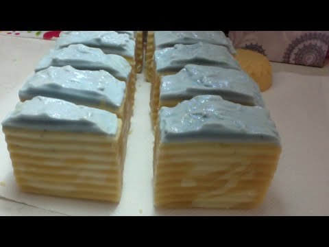 Making and Cutting Goat Milk Blueberry Soap
