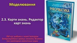 2.3. Карти знань. Редактор карт знань | 7 клас | Ривкінд