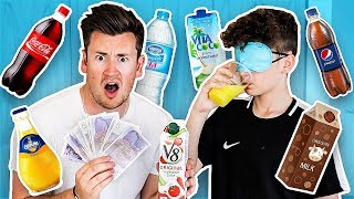 BROTHERS PLAY BLINDFOLDED DRINKS TASTE TEST