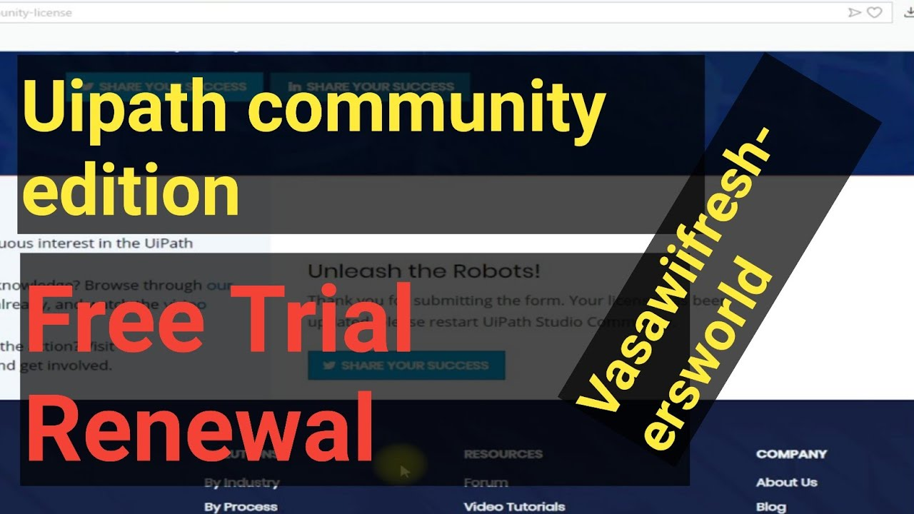 How to renew UIPath Community Edition Free Trail Expired License||preyasi telugu vlogs