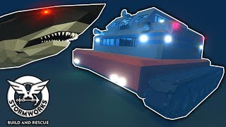 OB & I Got Stuck In The Tsunami Tank By A Megalodon! - Stormworks Multiplayer Survival Gameplay