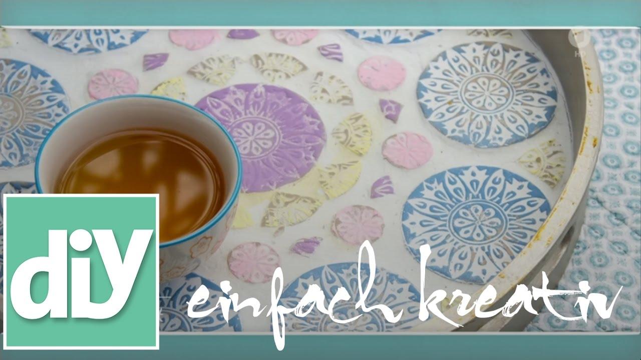 Tisch Mit Mosaikfliesen.Mosaikfliesen Aus Knetbeton Diy Einfach Kreativ
