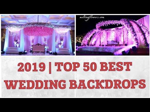 best-wedding-backdrops-2019|stage-decoration-ideas|reception,engagement-flower-designs-indian-theme