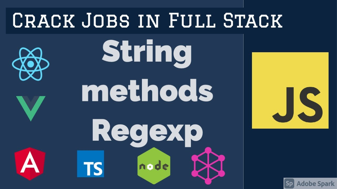 JavaScript Interview String Methods Regexp