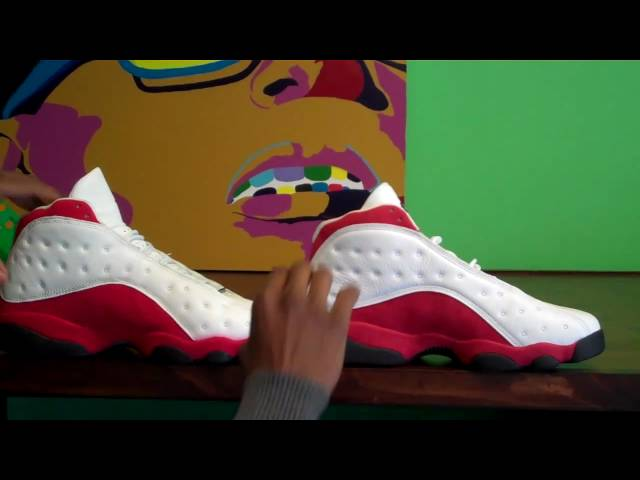 5b1a191ef9e Air Jordan 13 XIII White/Varsity Red 1998 vs 2010 Comparison by Sneaker  Dave - YouTube