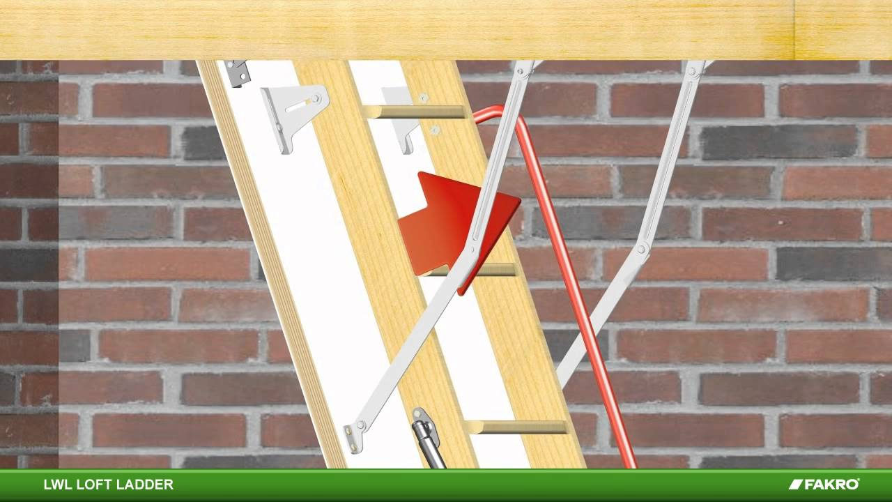Fakro loft ladders lwl wooden loft ladder youtube - Escaleras para buhardillas plegables ...