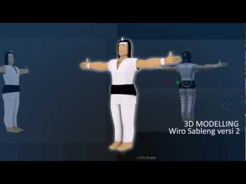 Wiro Sableng 3D Blender 2 6 3 Travel Video