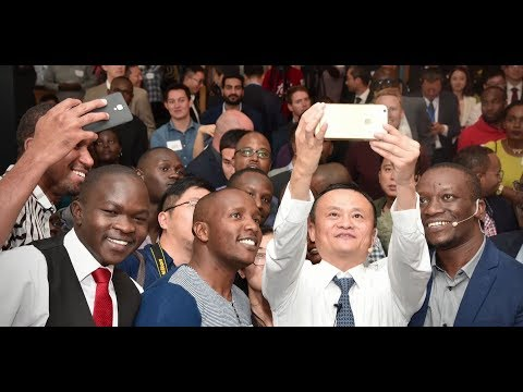 Jack Ma and UNCTAD with youth in Africa