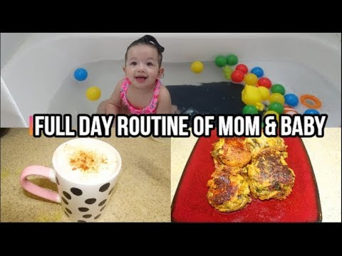 full-day-routine-of-mom-&-baby|-special-recipes|-play-time-with-arya