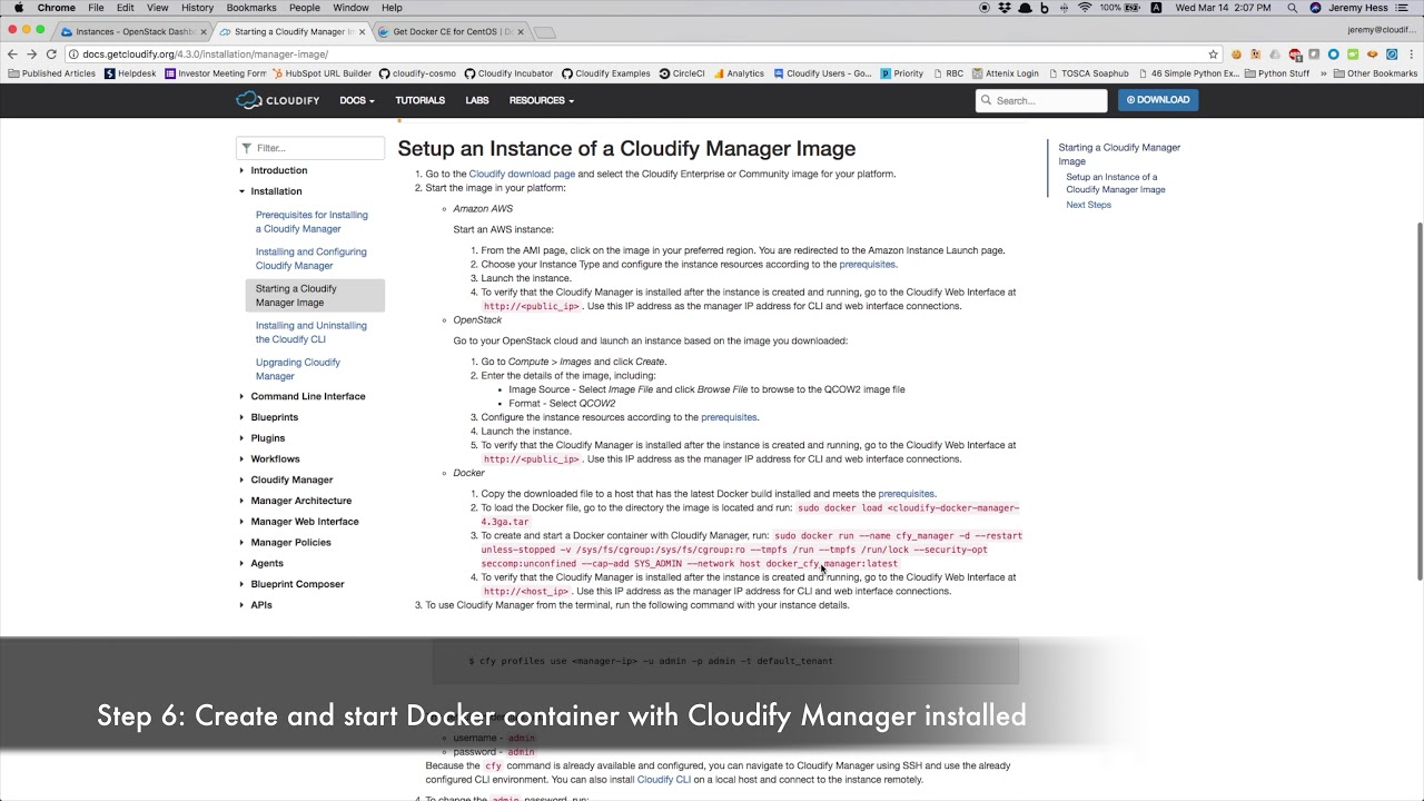 Cloudify manager docker image install youtube cloudify manager docker image install malvernweather Images