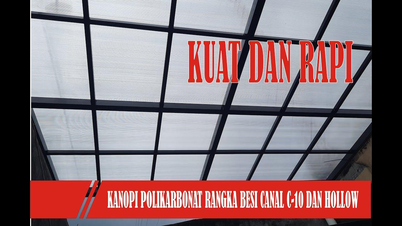 Download Kanopi Polikarbonat Minimalis Rangka Besi Hollow Atap Bening Seperti Kaca