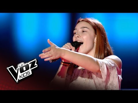 """Lucía Rodrigo: """"Halo"""" – Audiciones a Ciegas  - La Voz Kids 2018"""