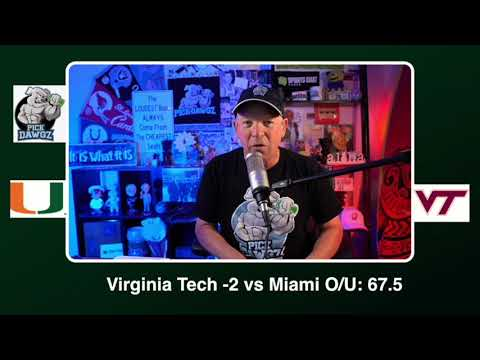 Virginia Tech vs Miami 11/14/20 Free College Football Picks and Predictions CFB Tips