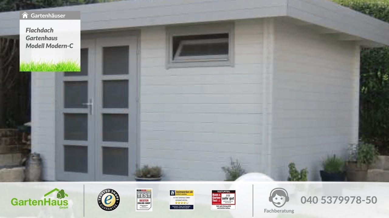 flachdach gartenhaus modell modern c youtube. Black Bedroom Furniture Sets. Home Design Ideas