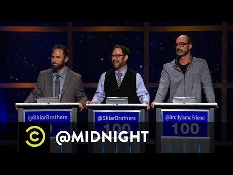 Randy Sklar, Jason Sklar, Brody Stevens  Rapid Refresh  @midnight w Chris Hardwick
