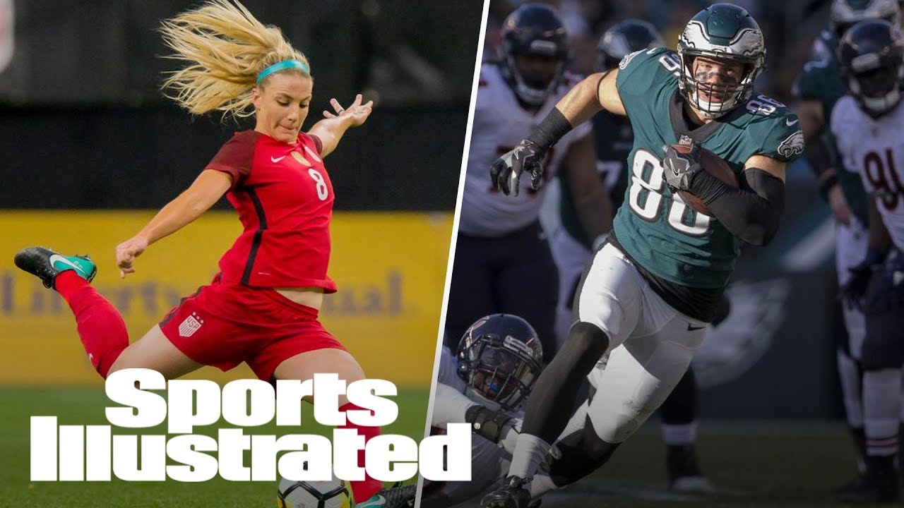 See the moment USWNT's Julie Ertz found out her husband, Zach Ertz, is heading ...