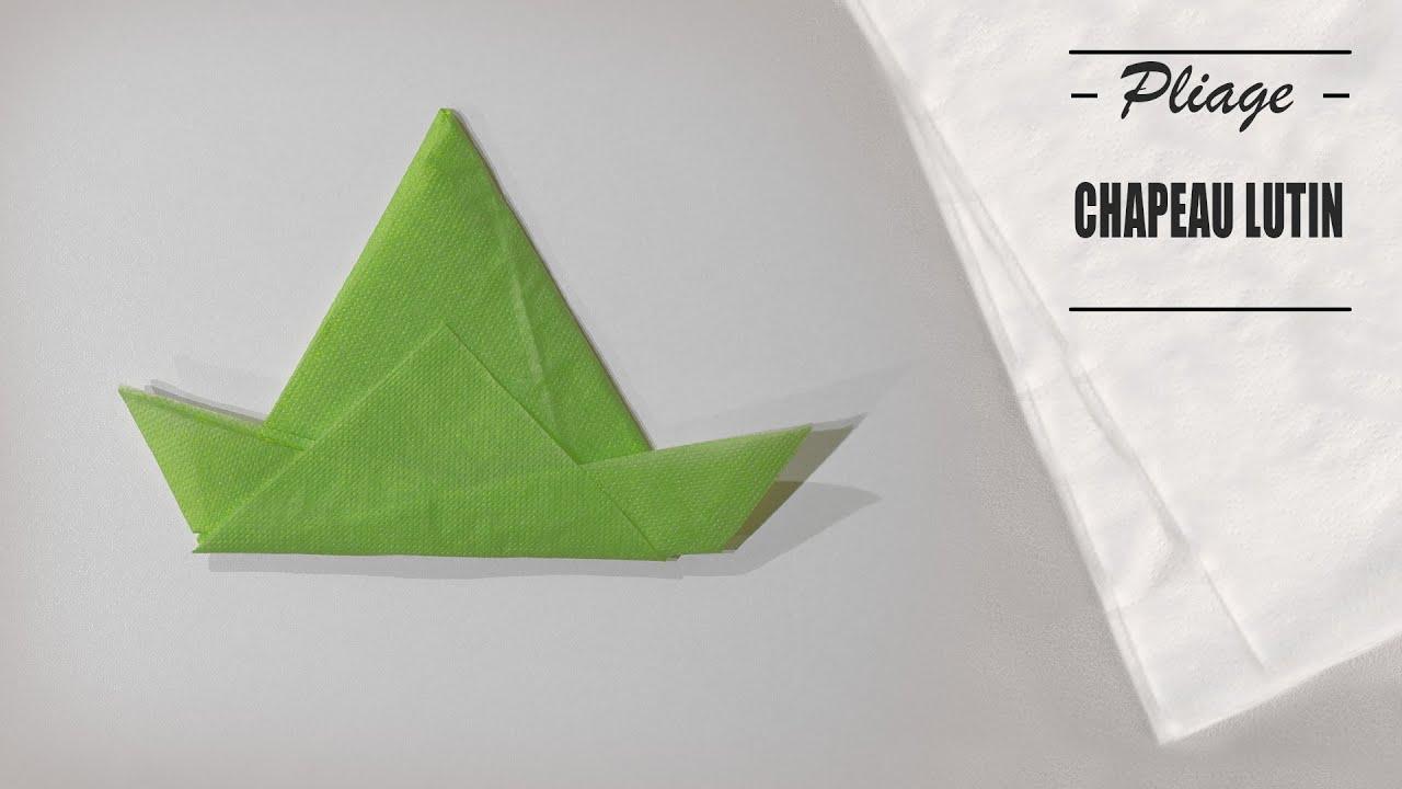 Pliage Serviette Saint St Patrick Chapeau Lutin Origami Youtube