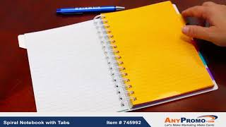 Promo Product Review: Spiral Notebook with Tabs| AnyPromo 745992