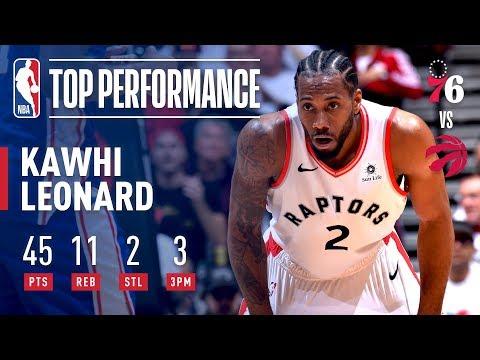 Kawhi Leonard's UNBELIEVABLE 45 Point Performance Against Philadelphia | April 27, 2019