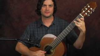 Learn fingerstyle guitar with Giuliani esque classical arpeggio exercises lesson finger picking