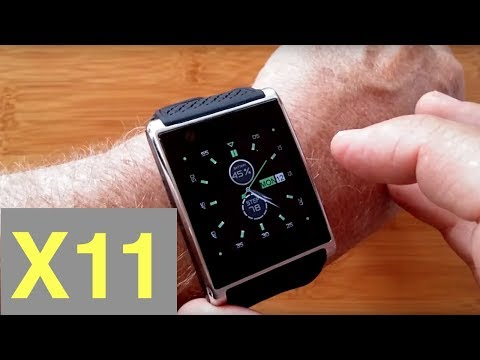 X11 Square Curved Android 5.1 Front Facing Camera Smartwatch: Unboxing & Review