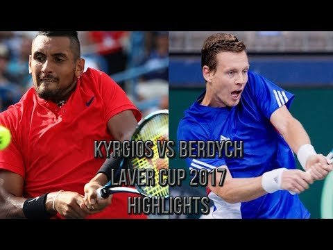 Nick Kyrgios Vs Tomas Berdych - Laver Cup 2017 (Highlights HD)