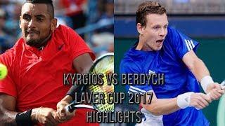 Nick Kyrgios Vs Tomas Berdych - Laver Cup 2017 (Highlights HD)