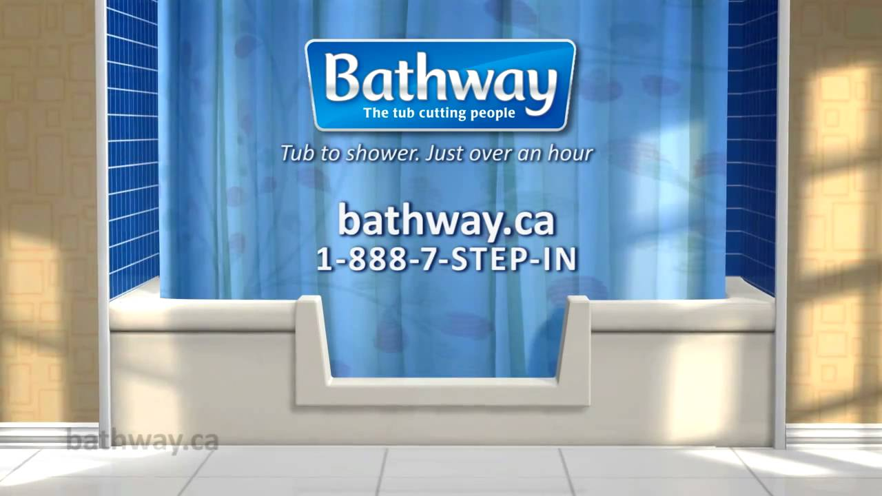 Convert Tub to Shower - Bathway The Tub Cutting People - YouTube