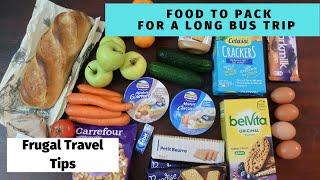 FOOD for 46 Hour Bus Journey Across Europe on FlixBus