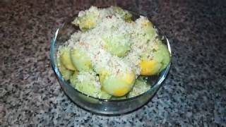 Щербет из авокадо с манго RAW