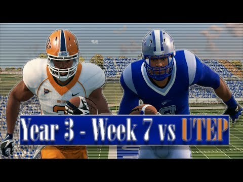 NCAA Football 14 Baltimore State Dynasty Year 3 - W7 vs UTEP