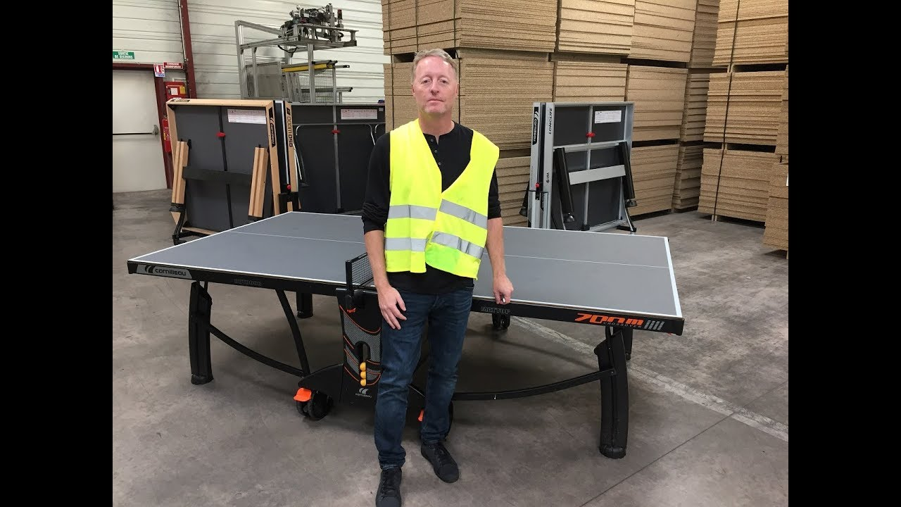 30ab88c8a Cornilleau 700M Outdoor Ping Pong Table - YouTube