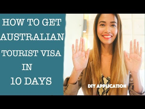 HOW TO GET AUSTRALIAN TOURIST VISA IN 10 DAYS!!! |  DIY APPLICATION