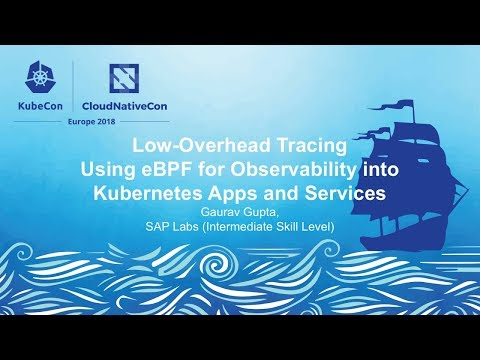 Low-Overhead Tracing Using eBPF for Observability into Kubernetes Apps and Services - Gaurav Gupta