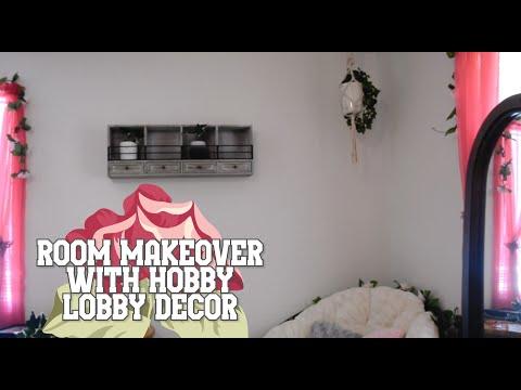 Room Makeover with Hobby Lobby decor