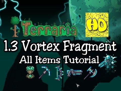 Terraria 1 3 All Vortex Items Tutorial 1 3 Vortex Beater Phantasm