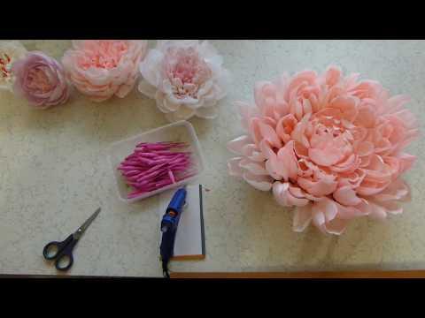 видео: Разные виды формирования серединки большого пиона Часть 1