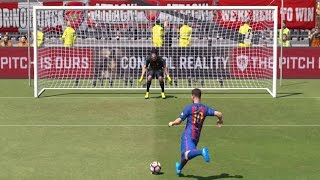 PES 2017 - Penalty Shootout | Arsenal FC vs FC Barcelona | Gameplay (PC HD) [1080p60FPS]