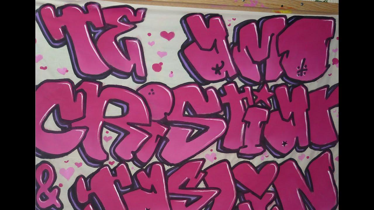 Haciendo manta  Te amo  graffiti bombing style  YouTube